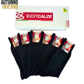 6 paia di calze corte uomo in misto lana mod. poker lana – spedizione gratuita