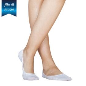 6 paia di salvapiedi donna 100% cotone filo di scozia mod. ballerina – spedizione gratuita