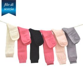 6 paia di calze lunghe bambina in cotone filo di scozia mod. unito – spedizione gratuita