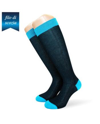 6 paia di calze lunghe da uomo micropois in cotone filo di scozia mod. ghedi moda – spedizione gratuita