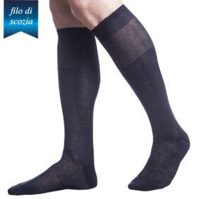 6 paia di calze lunghe uomo in cotone filo di scozia mod. poker – spedizione gratuita