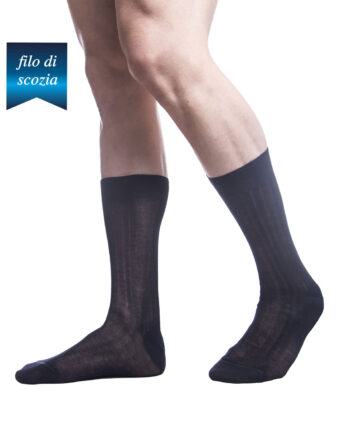 6 paia di calze corte a costine da uomo in cotone filo di scozia mod. sistro – spedizione gratuita