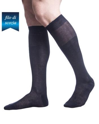 6 paia di calze lunghe uomo in cotone filoscozia chiffon mod. plain – spedizione gratuita