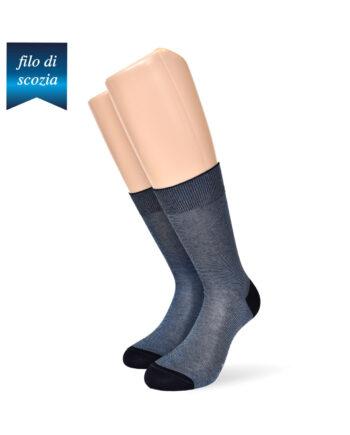 6 paia di calze uomo corte a righe in cotone filo di scozia, mod. millerighe classico – spedizione gratuita