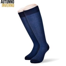 6 paia di calze lunghe uomo fantasia micropois in cotone pettinato mod. ghedi winter – spedizione gratuita